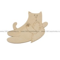Фигурка подвес с контуром (Кот с сердечком)