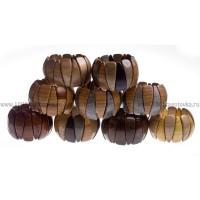 Браслет растяжной деревянный в ассортименте (цена за 1 шт.)