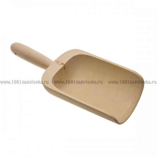 совок деревянный из бука для продуктов