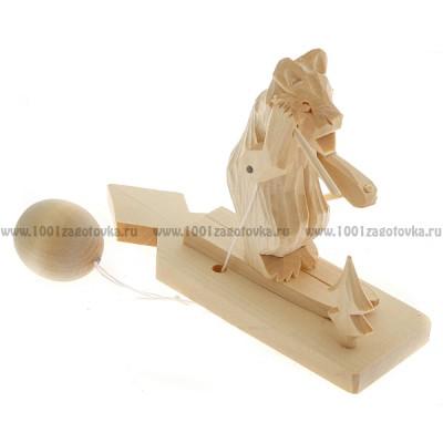 """Богородская игрушка  """"Мишка катается на лыжах"""""""