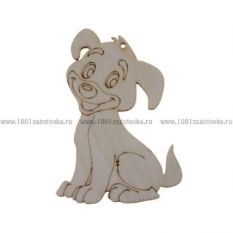 Фигурка плоская подвес с контуром (Собака – символ 2018 года)