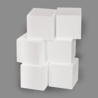"""Заготовка для декорирования """"Куб"""" из пенопласта 60 мм, 6 шт."""