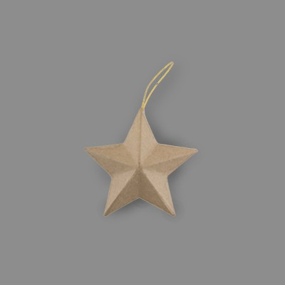 """Заготовка для декорирования из папье-маше """"звезда"""" 5.5 x 3 см 3 шт (Love2art)"""