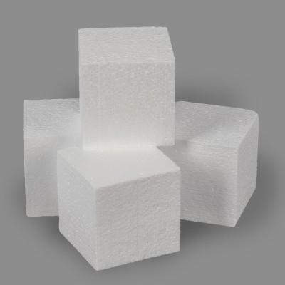 """Заготовка для декорирования """"Куб"""" из пенопласта 80 мм, 4шт."""