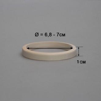 Деревянный браслет взрослый 1 см (прямой)