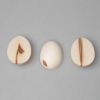 """Деревянная заготовка для магнита """"Яйцо"""" малое (половинка) с уценкой"""