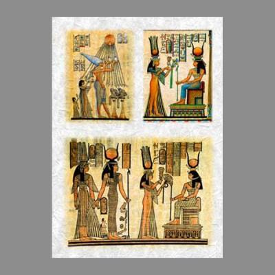 """Бумага рисовая IRP 32 x 45 0009 Египетские боги """"Love2art"""""""