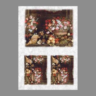 """Бумага рисовая IRP 32 x 45 0031 Натюрморт с ракушками """"Love2art"""""""