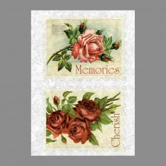 """Бумага рисовая IRP 32 x 45 0073 Роза на память """"Love2art"""""""