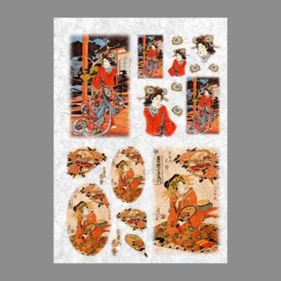 """Бумага рисовая IRP 32 x 45 0081 Гейши """"Love2art"""""""