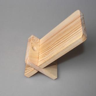 Подставка под телефон прямоугольная из дерева