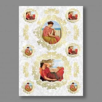 """Бумага рисовая IRP 32 x 45 0076 Скучающие девы """"Love2art"""""""