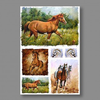 """Бумага рисовая IRP 32 x 45 0210 Лошади """"Love2art"""""""