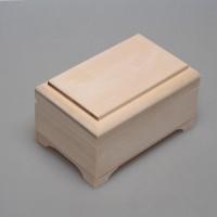 Шкатулка из дерева прямоугольная c фрезой 14 х 9 х 8 см