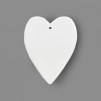 """Заготовка для декорирования """"Сердце"""" пластик 7.5 X 10 см """"Love2art"""""""