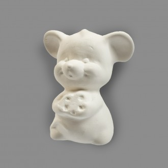 """Заготовка для декорирования """"Love2art"""" Мышь с сыром керамика 7 х 7 х 10 см"""