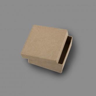 """Заготовка для декорирования """"Love2art"""" PAM-014 """"коробка"""" папье-маше 7 x 7 x 3 см 2 шт в форме квадрата"""