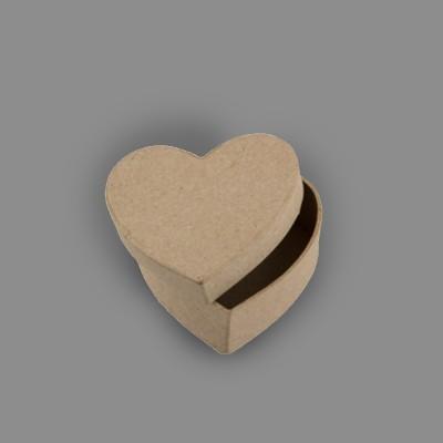 """Заготовка для декорирования """"Love2art"""" PAM-015 """"коробка"""" папье-маше 7 x 7 x 3 см 2 шт в форме сердца"""