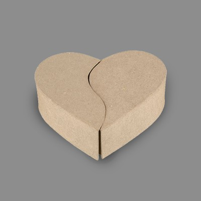 "Заготовка для декорирования ""Love2art"" PAM-059 ""коробочка-сердце"" папье-маше 16.5 x 15 x 5 см"