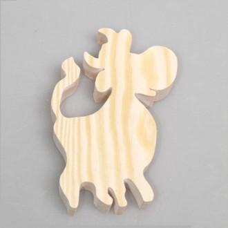 """Фигурка из дерева """"Веселая коровка"""""""