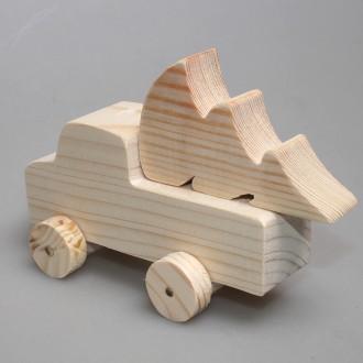 """Игрушка деревянная из сосны """"Грузовик с ёлкой"""""""