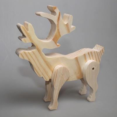 """Игрушка деревянная из сосны """"Олень"""" (ноги на шарнирах)"""