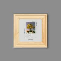 """Деревянная рамка """"Gamma"""" МРД-12 20 х 20 см дерев. с оргстеклом натуральное дерево"""