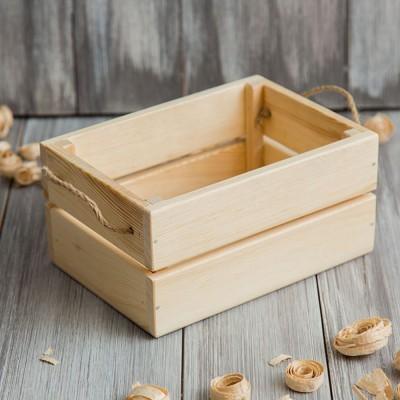 Реечный короб из дерева 015.1