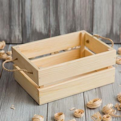 Реечный короб из дерева 015.2