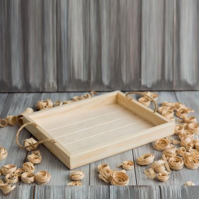 Поднос деревянный с фрезерованным дном 194.1