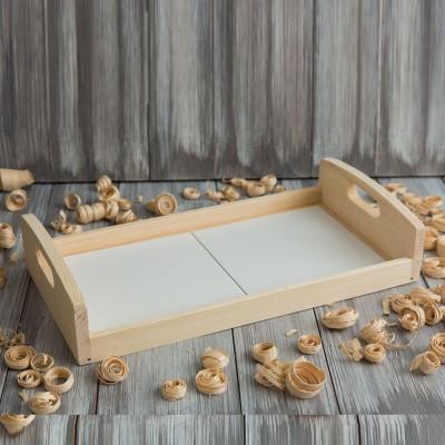 Поднос деревянный с плиткой 323