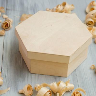 Короб деревянный шестигранный