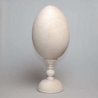 Деревянная заготовка яйцо 23 см на подставке 14,5 см