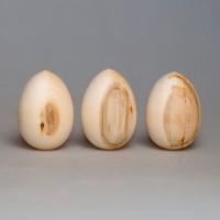 Деревянная заготовка яйцо деревянное 8 см с уценкой