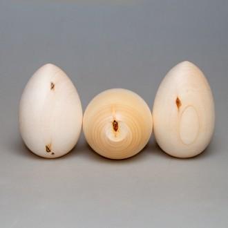 Деревянная заготовка Яйцо 9 см с уценкой