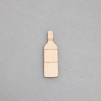 """Заготовка для значка из фанеры """"Бутылка вина"""""""