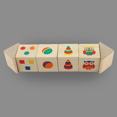 "Игрушка из дерева кубики на оси ""Подбери цвета"""