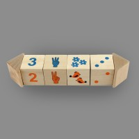 "Игрушка из дерева кубики на оси ""Счет"""