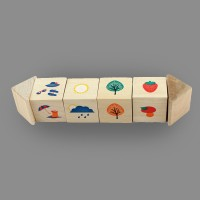 "Игрушка из дерева кубики на оси ""Времена года"""