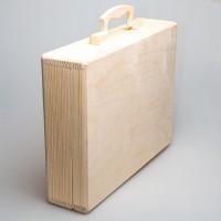Чемодан прямоугольный (А4) из дерева