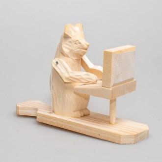 """Деревянная богородская игрушка """"Мишка за компьютером"""""""