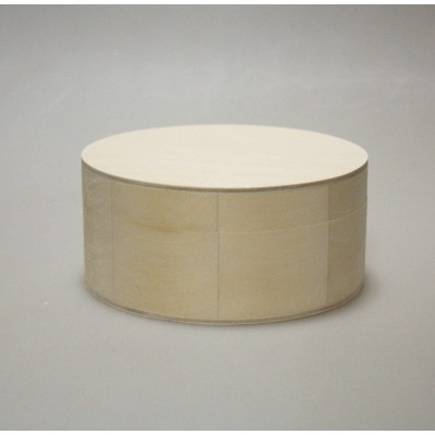 Деревянная заготовка шкатулка круглая (средняя, диаметр - 13см)