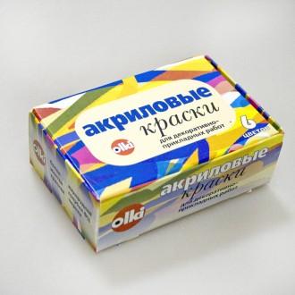"Акриловые краски ""ОЛКИ"" дизайн набор 6 цв. 22 мл"
