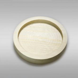 Декоративная деревянная тарелочка из сосны