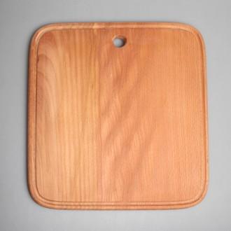 Доска разделочная прямоугольная (широкая) из цельного дерева