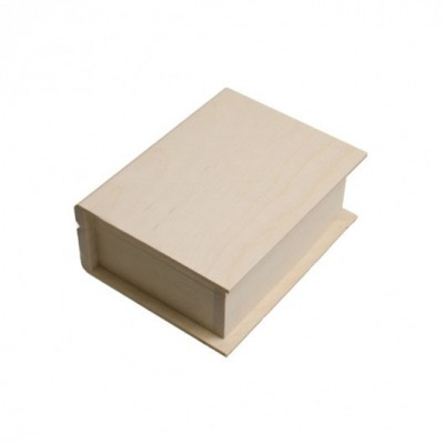 Деревянная заготовка шкатулка-книга 18 х 14 х 7 см