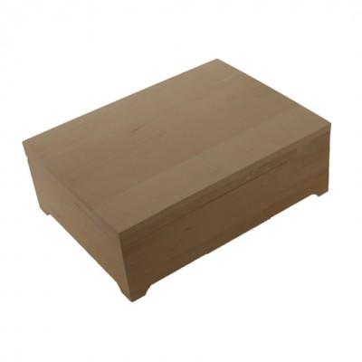 Деревянная заготовка шкатулка плоская 20 х 14 х 9,5 см