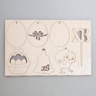 Набор пасхальных фигурок из фанеры (лазерная резка)