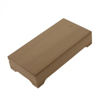 Деревянная заготовка шкатулка прямоугольная (купюрница) 18 х 9,5 х 4,5 см