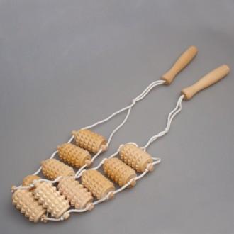 Веревочный массажер деревянный
